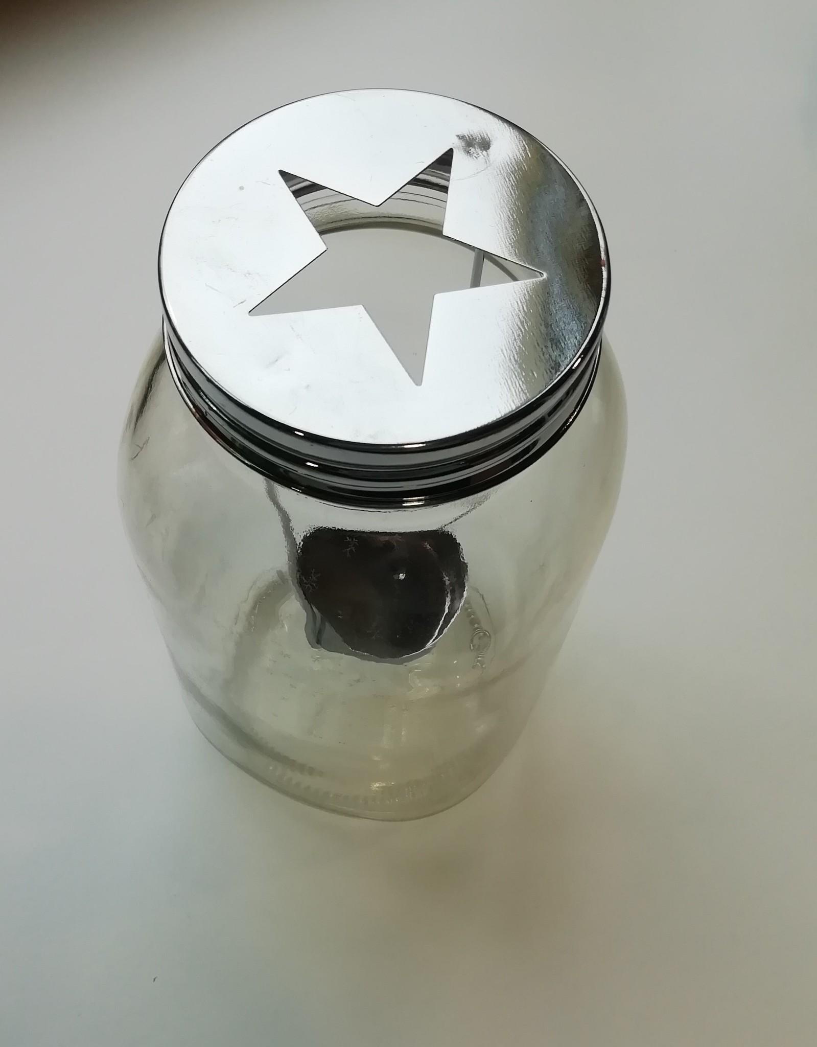 Theelichthouder lantaarn stervormig deksel
