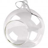 Kerstbal glas met opening