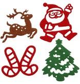 Setje vilten kerst stickers