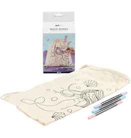 DIY Magical Mermaid Textiel painting