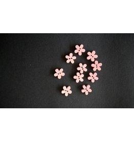 Houten knopen bloemvorm - ROZE