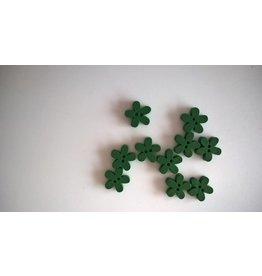 Houten knopen bloemvorm - GROEN