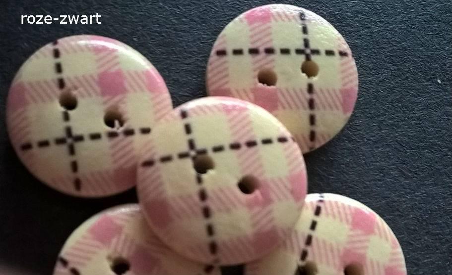 Houten knopen - ruitpatroon