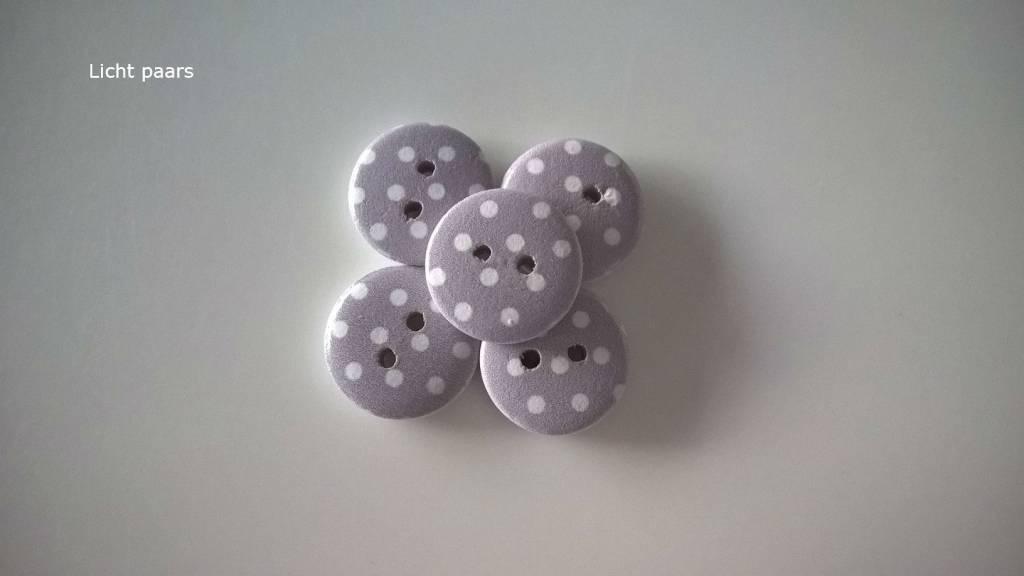 Houten knopen - bolletjes
