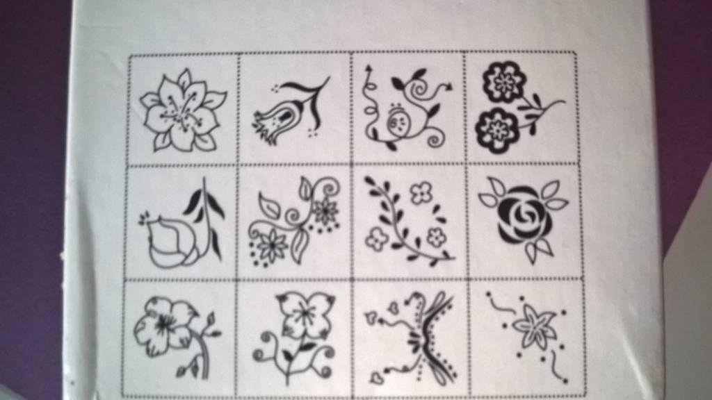 Houten stempel bloemetjes