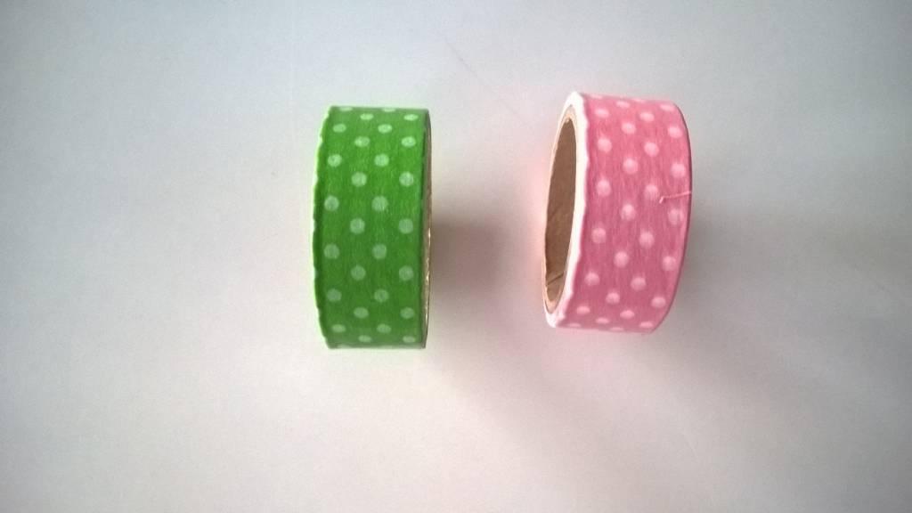 Washi tape bolletjes motief