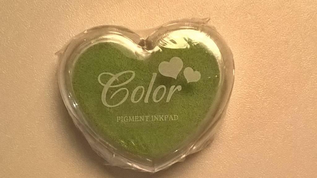 Stempelkussen hartvorm - lichte kleuren