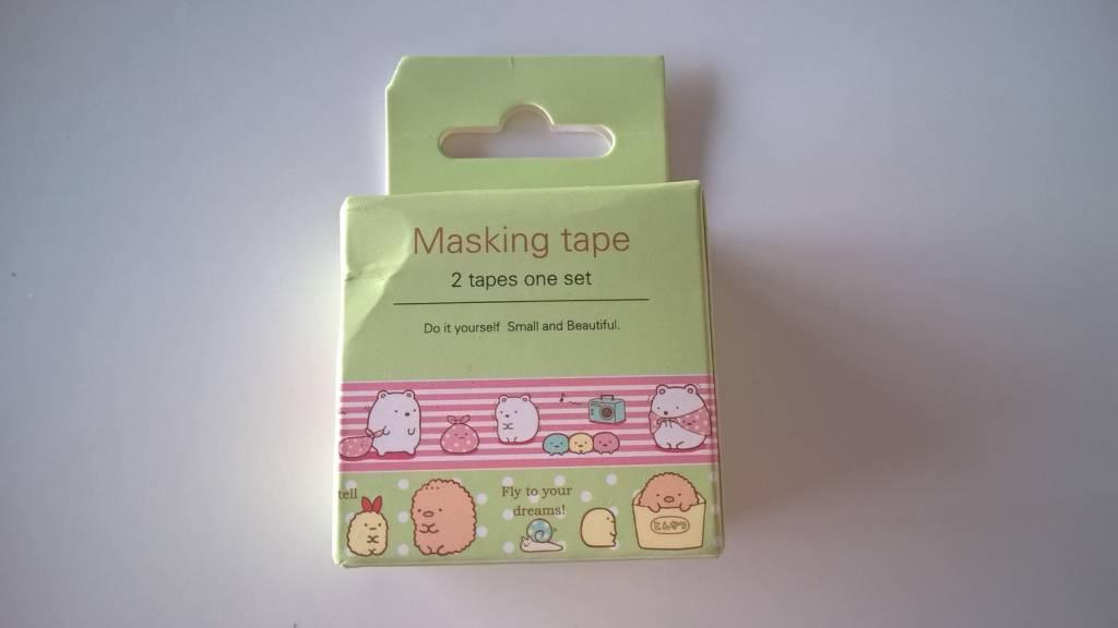 Masking tape doosje cartoon