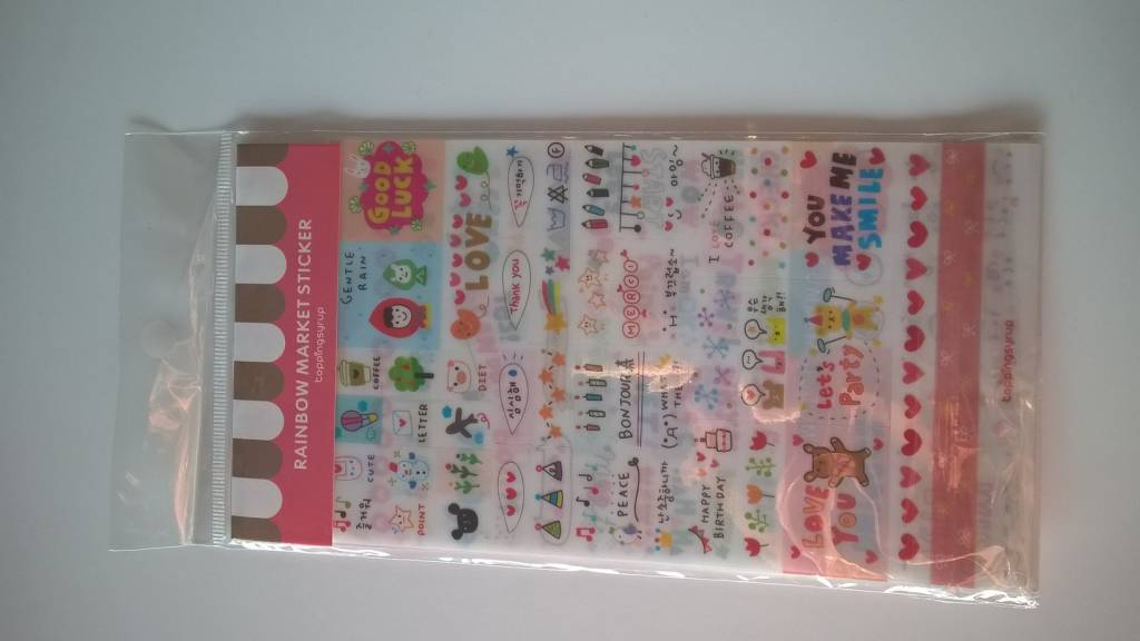 Transparante stickers 6 vellen