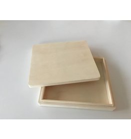 Houten platte doos