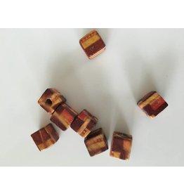 Vierkante houten kralen