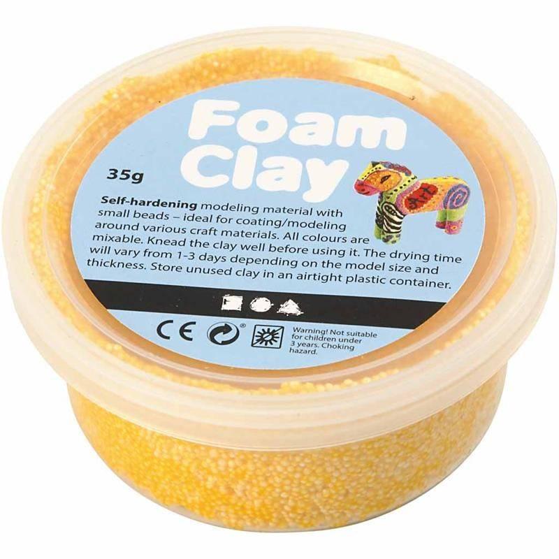Foam clay doosje 35g geel