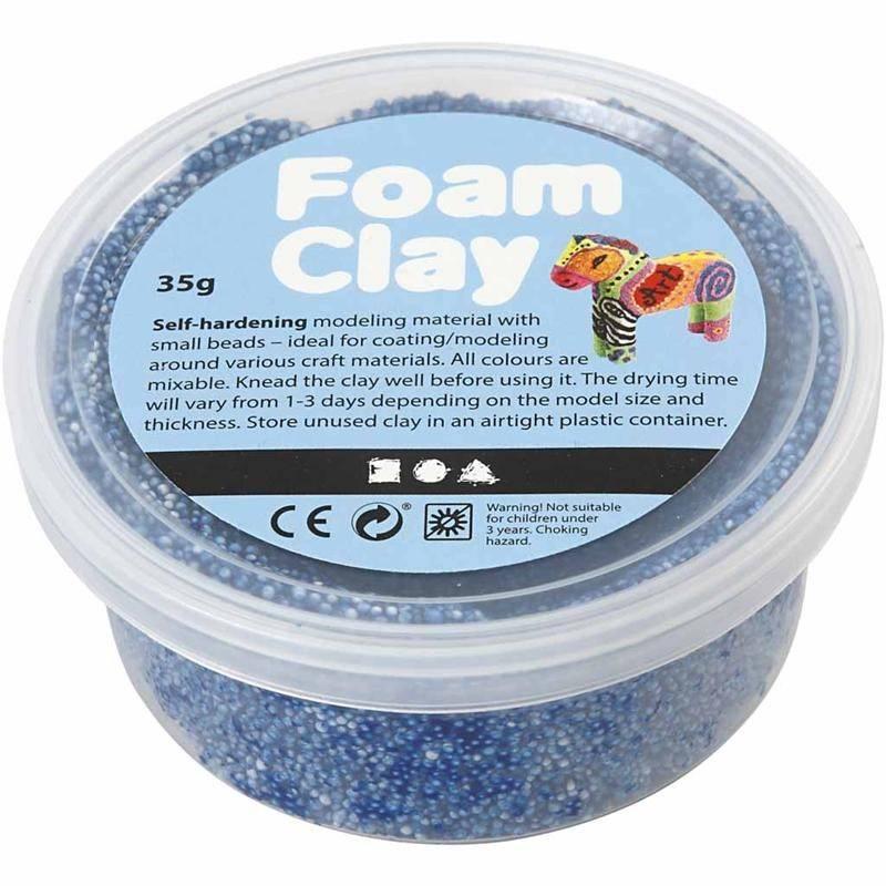 Foam clay doosje 35g donkerblauw