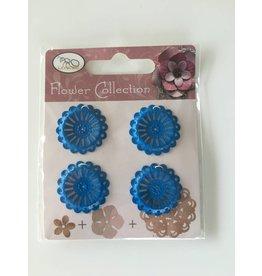 Geëmailleerde bloem blauw