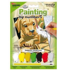Verven op nummer Labrador