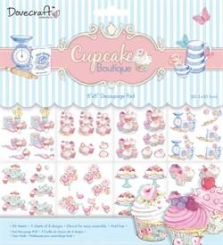 Blok decoupage papier Cupcake