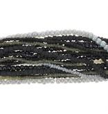 Assortiment rocailles zwart/grijs
