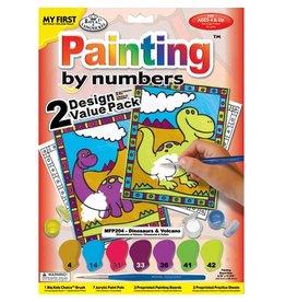 Verven op nummer dinosaurus
