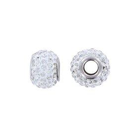 Pandora stijl strass kraal kristal 15 x 9 mm