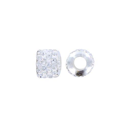 Pandora stijl strass kraal 11 x 10 mm kristal