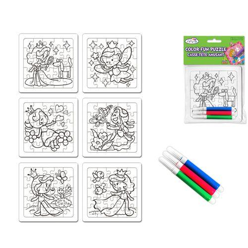 Puzzel om in te kleuren - prinses