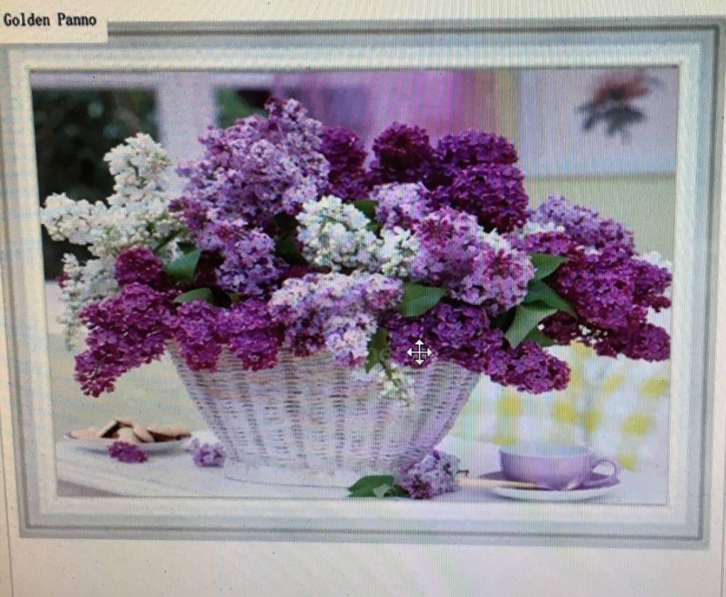 Diamant mozaïek Paarse bloemen