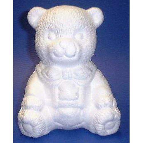 Styropor beer zittend