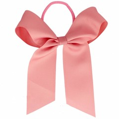 Your Little Miss Hair bow with hair tie old rose