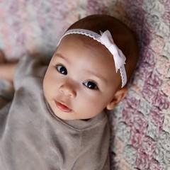 Your Little Miss Hellrosa Neugeborenen-Haarband mit Schleife