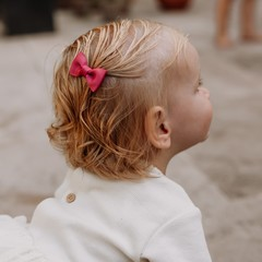 Your Little Miss Baby hair clip purple