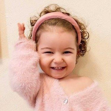 Your Little Miss Haarband antiker lila Satin