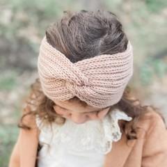 Your Little Miss Headband for girls twist fudge