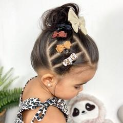 Your Little Miss Setje baby haarspeldjes Leopard tones