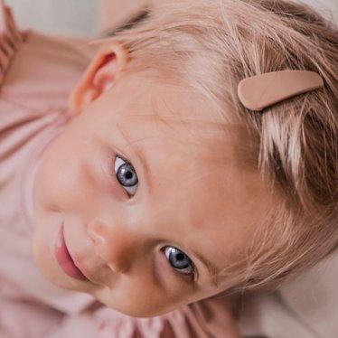 Your Little Miss Einfache Haarspangen mattbraun