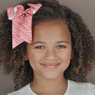 Your Little Miss Haarschleife mit elastischem Zebra