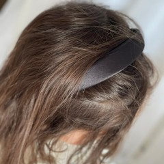 Your Little Miss Headband black satin