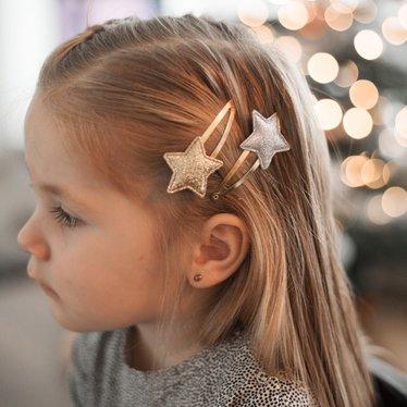 Your Little Miss Setje haarspeldjes stars silver gold