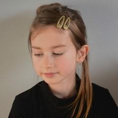 Your Little Miss Basic hair clips gold glitter