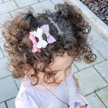Your Little Miss Setje haarspeldjes met strik vanilla