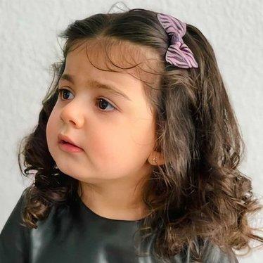 Your Little Miss Haarspeldje pink/grey zebra