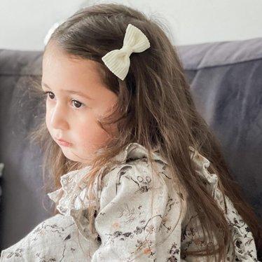 Your Little Miss Haarspeldje cream rib