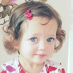 Your Little Miss Set mit zwei roten Baby Haarspangen mit weißen Punkten