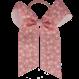 Your Little Miss Haarschleife mit elastischem rosa Leoparden