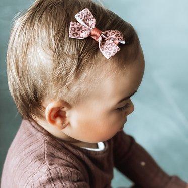 Your Little Miss Haarspeldje met strik medium animal