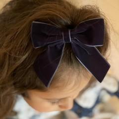 Your Little Miss Hair bow with elastic ocean velvet