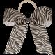 Your Little Miss Haarschleife mit elastischem grau / weißem Zebra