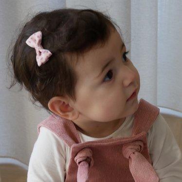 Your Little Miss Baby haarspeldje pastel dots