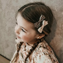 Your Little Miss Hair clips with animal fever bow
