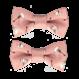 Your Little Miss Setje baby haarspeldjes met satijnen strik dandelion old pink