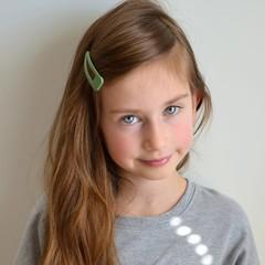 Your Little Miss hair clip matt green